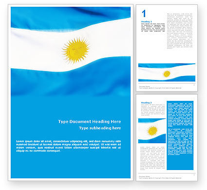 Flag of Argentine Republic Word Template