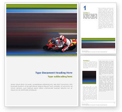 Sports: Plantilla de Word - superbike #02129