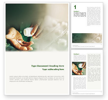 Pills Word Template, 02138, Medical — PoweredTemplate.com