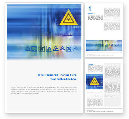 Radioactive Sign Word Template, 02142, Utilities/Industrial — PoweredTemplate.com