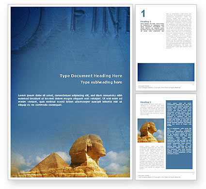 Flags/International: Sphinx Word Template #02144