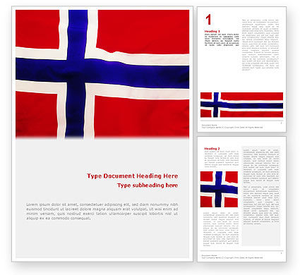 Flags/International: Flag of Norway Word Template #02149