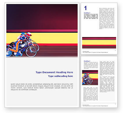 Sports: Motorcycle Sport Word Template #02150