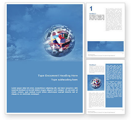 World Flags Word Template 02153 Poweredtemplate
