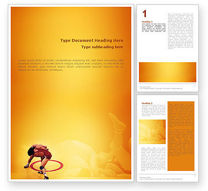 Free Style Wrestling Word Template, 02159, Sports U2014 PoweredTemplate.com  Ms Word Cover Page Templates Free Download