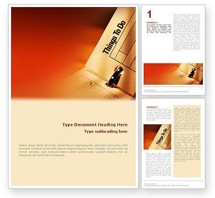 Task List Word Template, 02185, Business — PoweredTemplate.com
