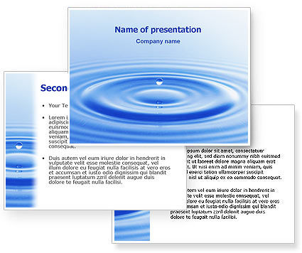 powerpoint backgrounds water. Water PowerPoint Template