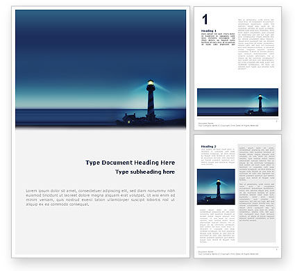 Nature & Environment: Lighthouse Word Template #02197