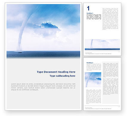 Nature & Environment: Waterspout Word Template #02211