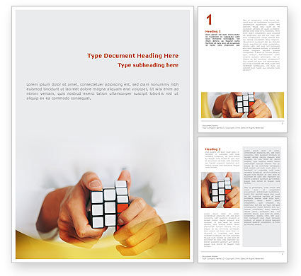 Puzzle Rubik's Cube Word Template, 02213, Business Concepts — PoweredTemplate.com
