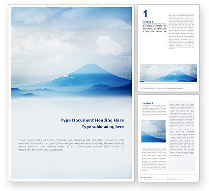 Nature & Environment: Fujiyama Word Template #02226