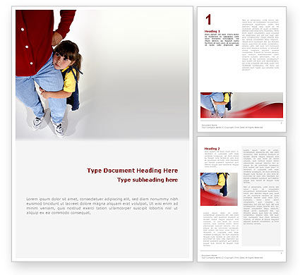 Paternal Care Word Template, 02232, People — PoweredTemplate.com