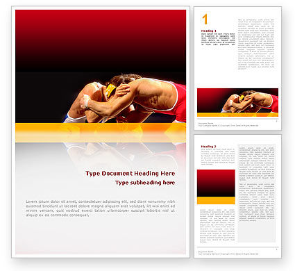 Combat Word Template, 02234, Sports — PoweredTemplate.com