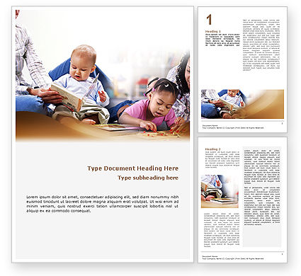 Education & Training: Kids and Learning Word Template #02240