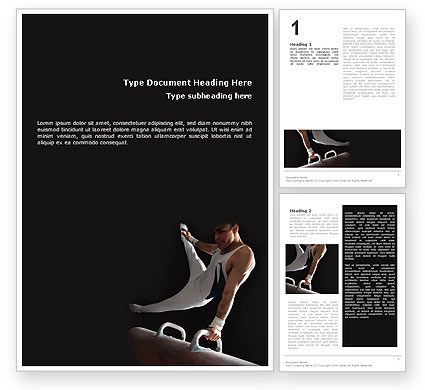Sports: Male Gymnastics Word Template #02245