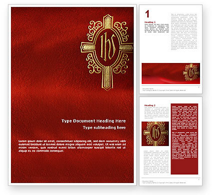 Holy Cross Word Template, 02246, Religious/Spiritual — PoweredTemplate.com