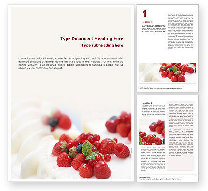 Food & Beverage: Berry Word Template #02250