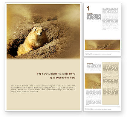 Nature & Environment: Modello Word - Marmotta #02254