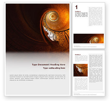 Stairs Word Template, 02275, Construction — PoweredTemplate.com