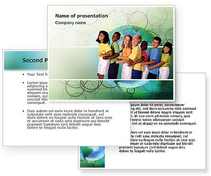 Children of the World PowerPoint Template, Children of the World Background
