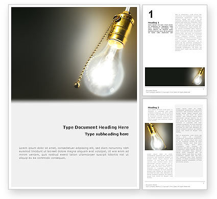 Activate Idea Word Template, 02280, Business Concepts — PoweredTemplate.com
