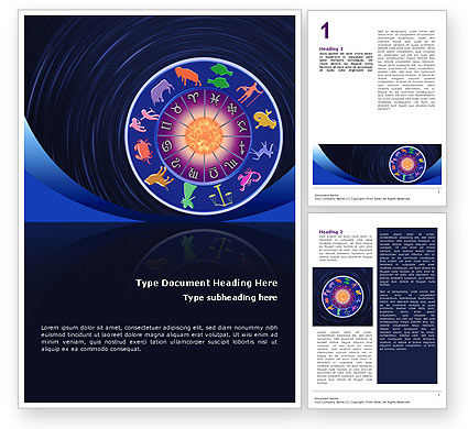 Religious/Spiritual: Horoscope Word Template #02286