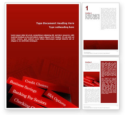 Business Concepts: Savings and Credits Word Template #02289