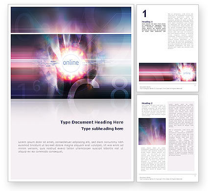 Technology, Science & Computers: Online Diensten Word Template #02290