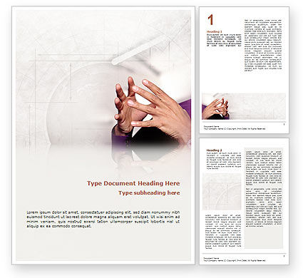 Consulting: Hands Word Template #02292