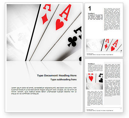 Playing Cards Word Template, 02295, Careers/Industry — PoweredTemplate.com