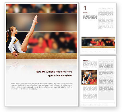 Sports: Artistic Gymnastics Word Template #02299