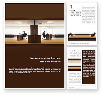 Business: Office Space Word Template #02306