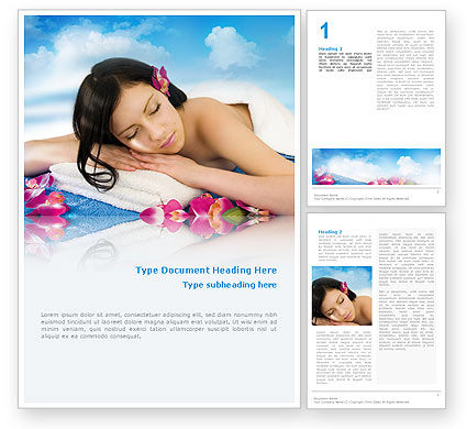 Holiday/Special Occasion: Spa Word Template #02307
