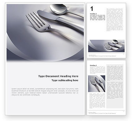 Careers/Industry: Dinner Word Template #02312