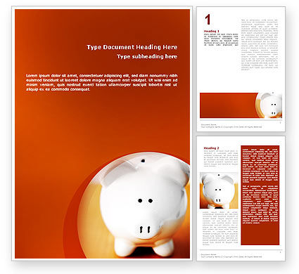 Financial/Accounting: Save Money Word Template #02316