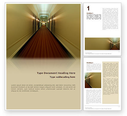 Hotel Word Template, 02330, Careers/Industry — PoweredTemplate.com