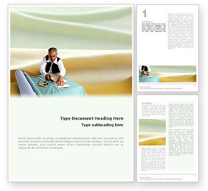 Tailoring Word Template, 02332, Business — PoweredTemplate.com