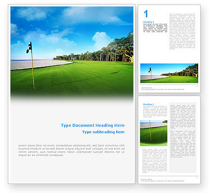 Golf Club Word Template, 02334, Sports — PoweredTemplate.com