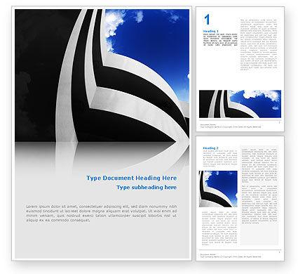 Modern Building Word Template, 02335, Construction — PoweredTemplate.com