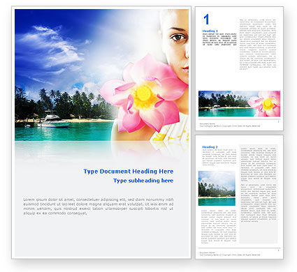 Nature & Environment: Spa Resort Word Template #02340
