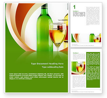 White Wine Tasting Word Template, 02342, Food & Beverage — PoweredTemplate.com