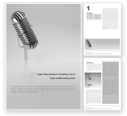 3D: Audio Recording Word Template #02343