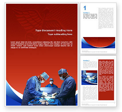 Medical: Surgical Help Word Template #02349