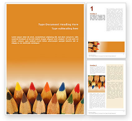 Color Pencil Word Template, 02353, Business Concepts — PoweredTemplate.com