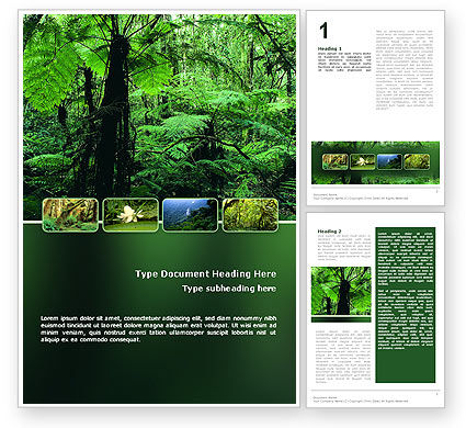 Nature & Environment: Modello Word - Foresta tropicale #02355