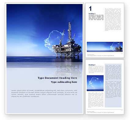 Drilling Platform Word Template, 02356, Utilities/Industrial — PoweredTemplate.com