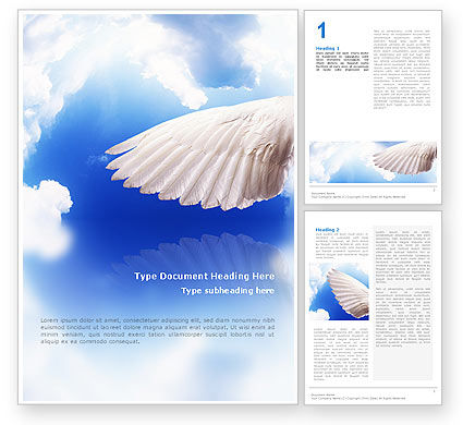Religious/Spiritual: Holy Spirit Word Template #02361