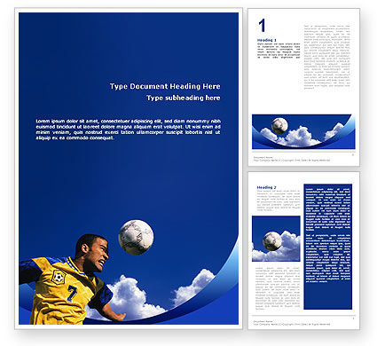 Sports: Head In Soccer Word Template #02365