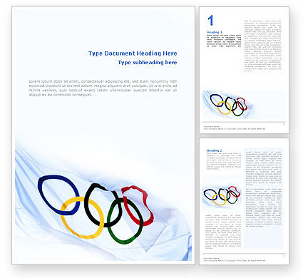 Olympic Games Word Template, 02369, Sports — PoweredTemplate.com