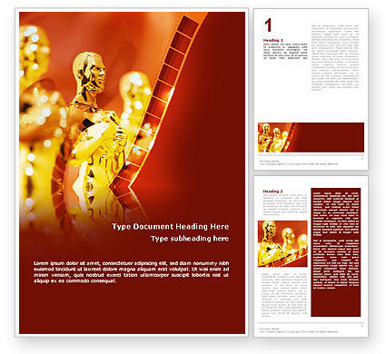 Movie Award Word Template, 02371, Art U0026 Entertainment U2014 PoweredTemplate.com  Award Word Template